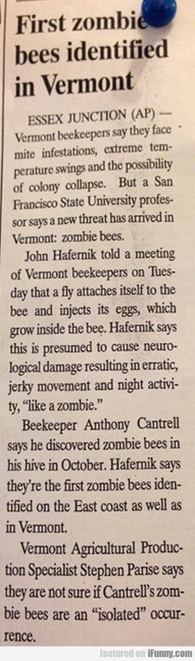First Zombie Bees Identified