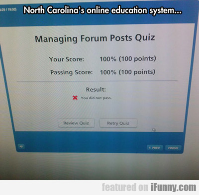 North Carolina's Online Education System...