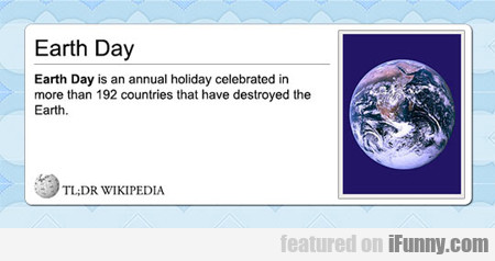 Earth Day Is An Annual Holiday Celebrated...