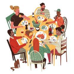 Meal Dinner Cartoon