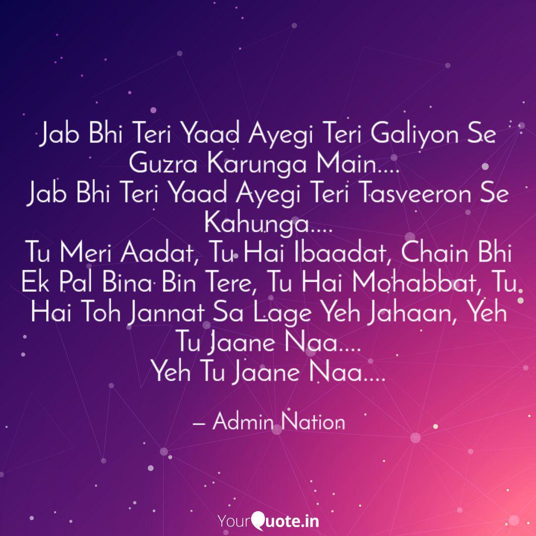 Yaad teri video song jab aayegi download bhi Sedekah Cf