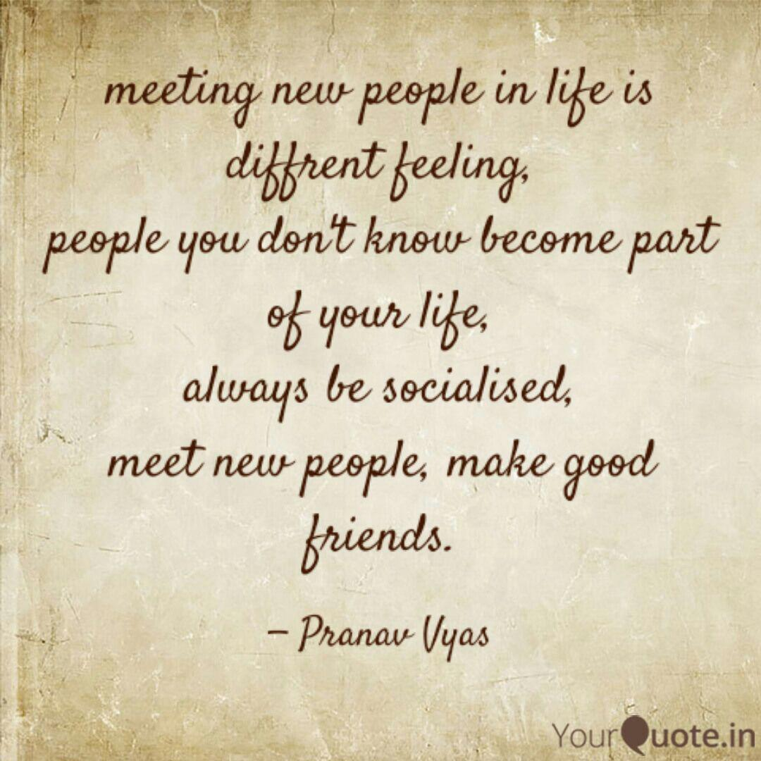 Meet New People Quotes