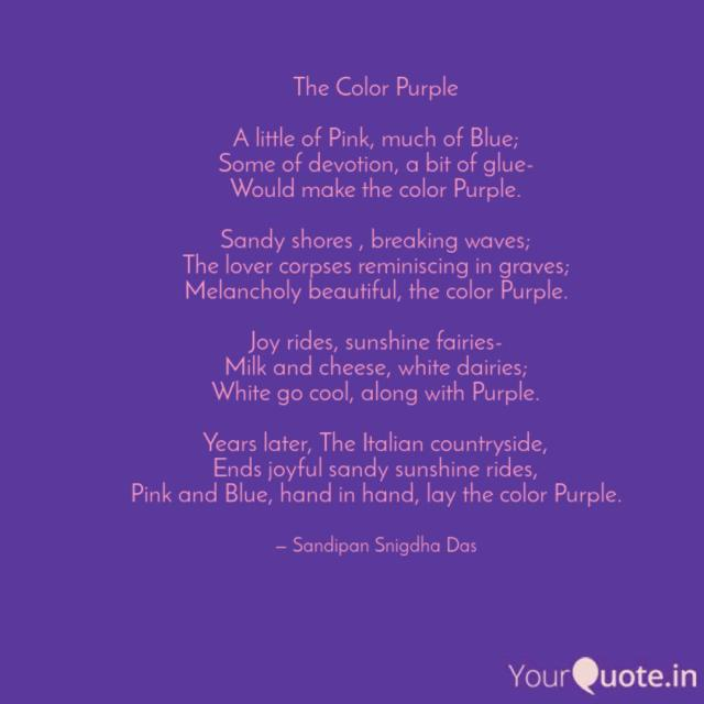 The Color Purple A littl  Quotes & Writings by Sandipan