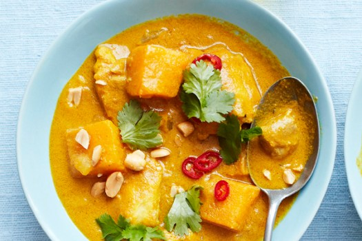 African chicken, sweet potato and peanut curry