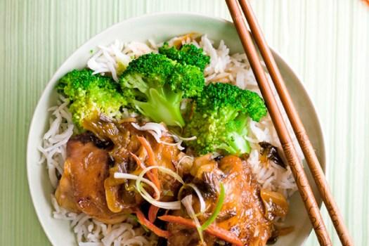 Chinese red-braised chicken