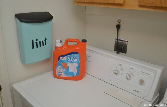 Dryer Lint Storage