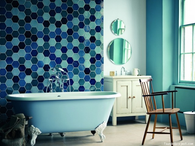 Hexagon Bathroom Tile