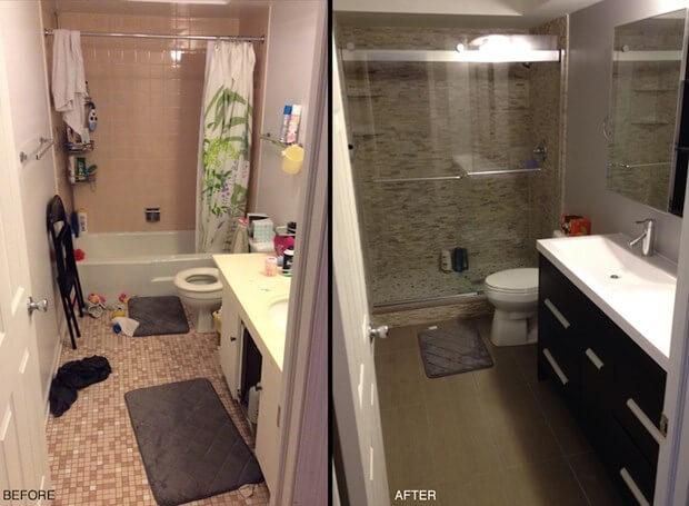 my small bathroom remodel recap: costs, designs & more