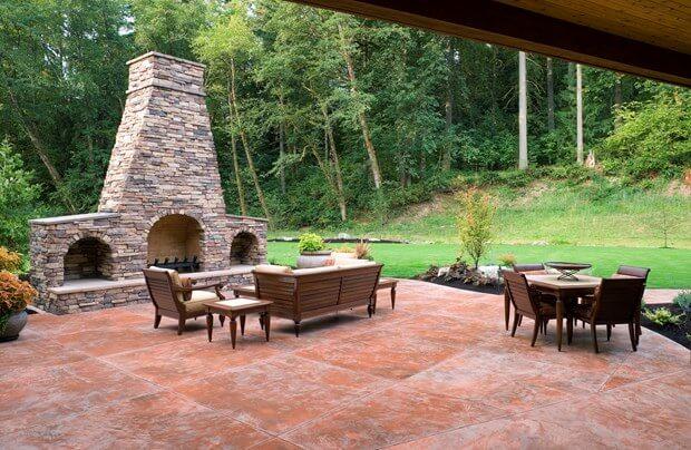 stamped concrete patio cost concrete