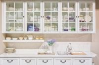 An Alternative To Wood: Glass Front Cabinets | Kitchen ...