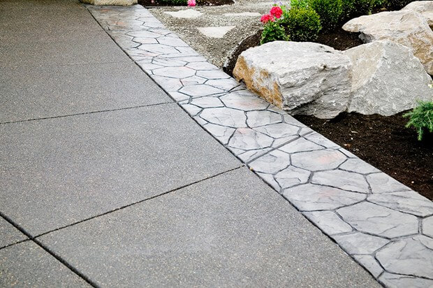 exposed aggregate concrete overlay