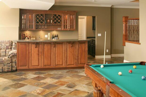 basement flooring on uneven ground