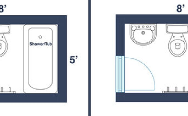 7 Awesome Layouts That Will Make Your Small Bathroom More
