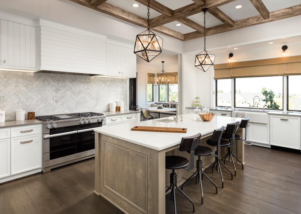 kitchen flooring trends island set 2018 floor