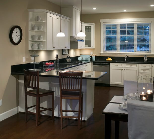 how to decorate your kitchen porcelain floor using black white