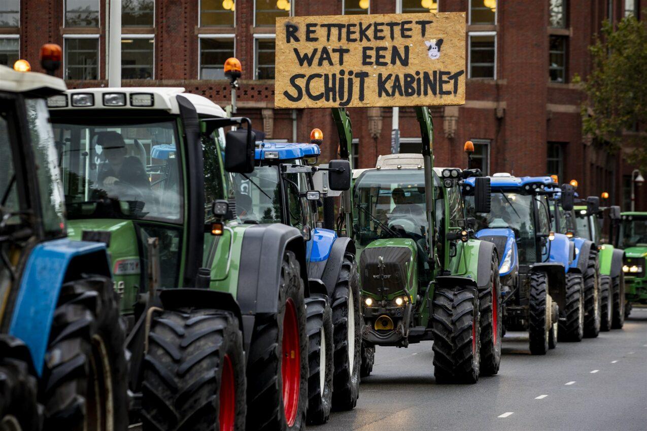 verkeersopstoppingen tienduizend boeren komen naar den haag indebuurt den haag
