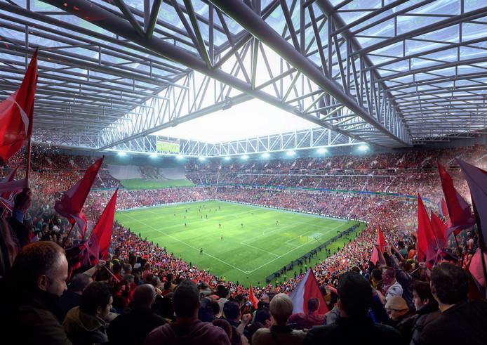 nieuwe stadion van feyenoord er uitzien
