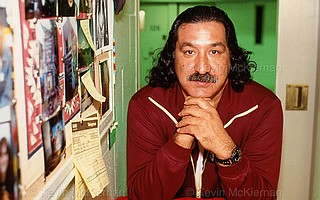 Leonard Peltier has petitioned President Obama for clemency, asking for an end to 41 years in captivity. Convicted of aiding and abetting the 1975 killing of two FBI agents, Peltier saw his clemency request to President Clinton in 2000 blocked by FBI agents' groups. The 72-year-old leader of the American Indian Movement hasn't been allowed to see a reporter in almost a decade, and the writer took this photo of Peltier in Leavenworth in the mid-1990s.