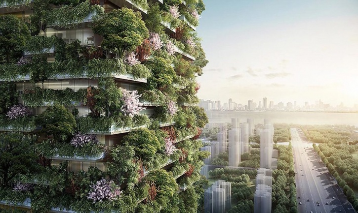 vertical forest  Asia's First Vertical Forest Is Being Built In China Which Will Produce 60 Kg Oxygen Every Day vertical forest stefano boeri china 3 1486442767