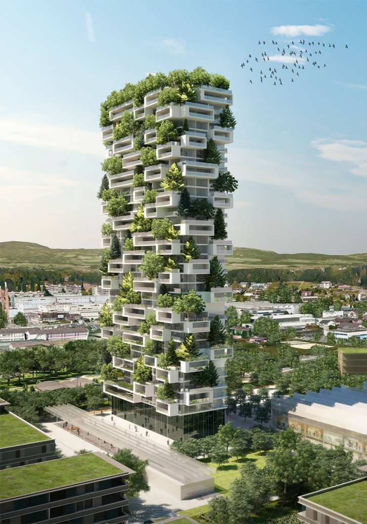 vertical forest  Asia's First Vertical Forest Is Being Built In China Which Will Produce 60 Kg Oxygen Every Day vertical forest stefano boeri china 5 1486442827