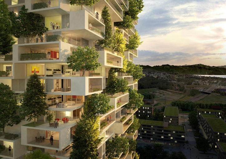 vertical forest  Asia's First Vertical Forest Is Being Built In China Which Will Produce 60 Kg Oxygen Every Day vertical forest stefano boeri china 6 1486443266