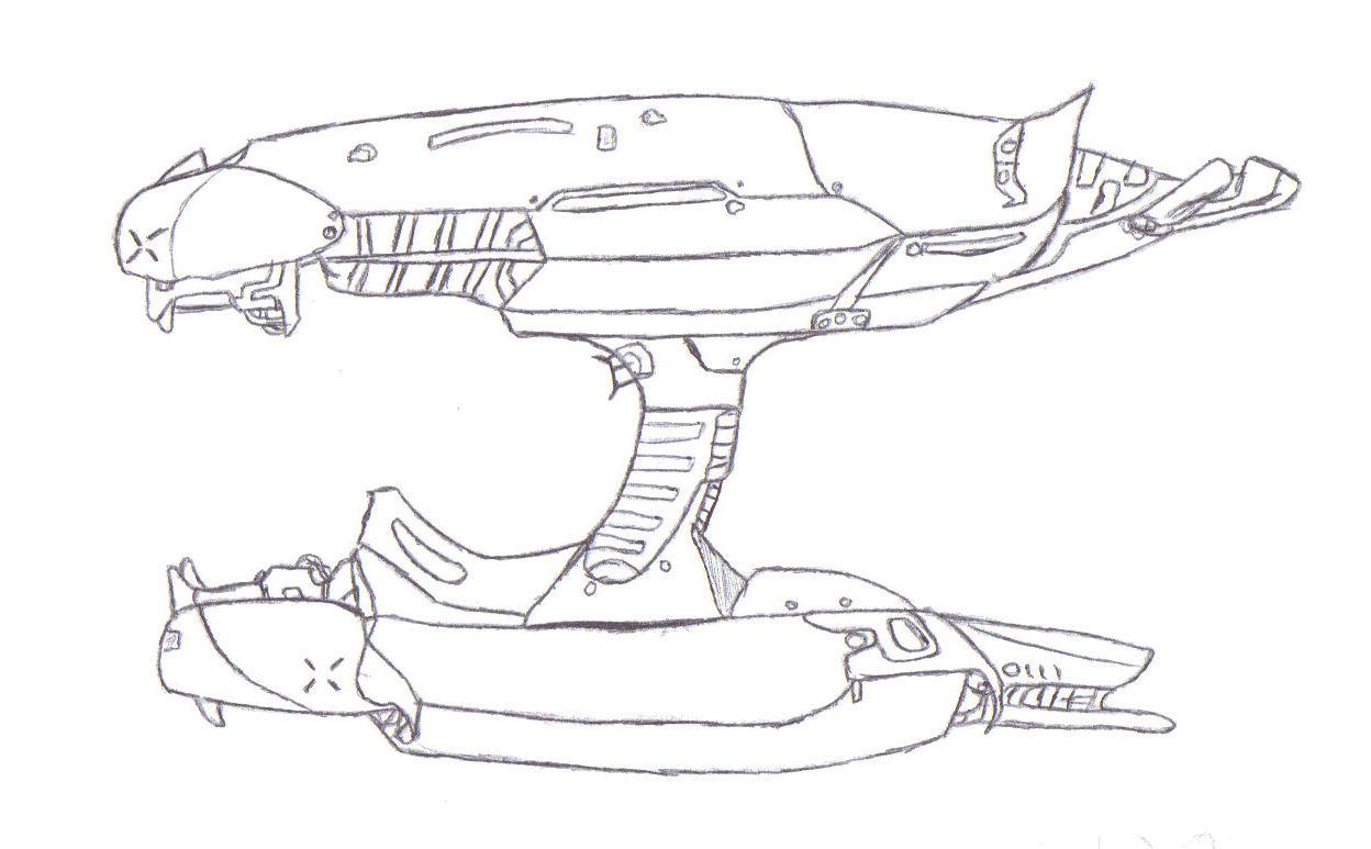 Plasma Rifle Side Drawing Image