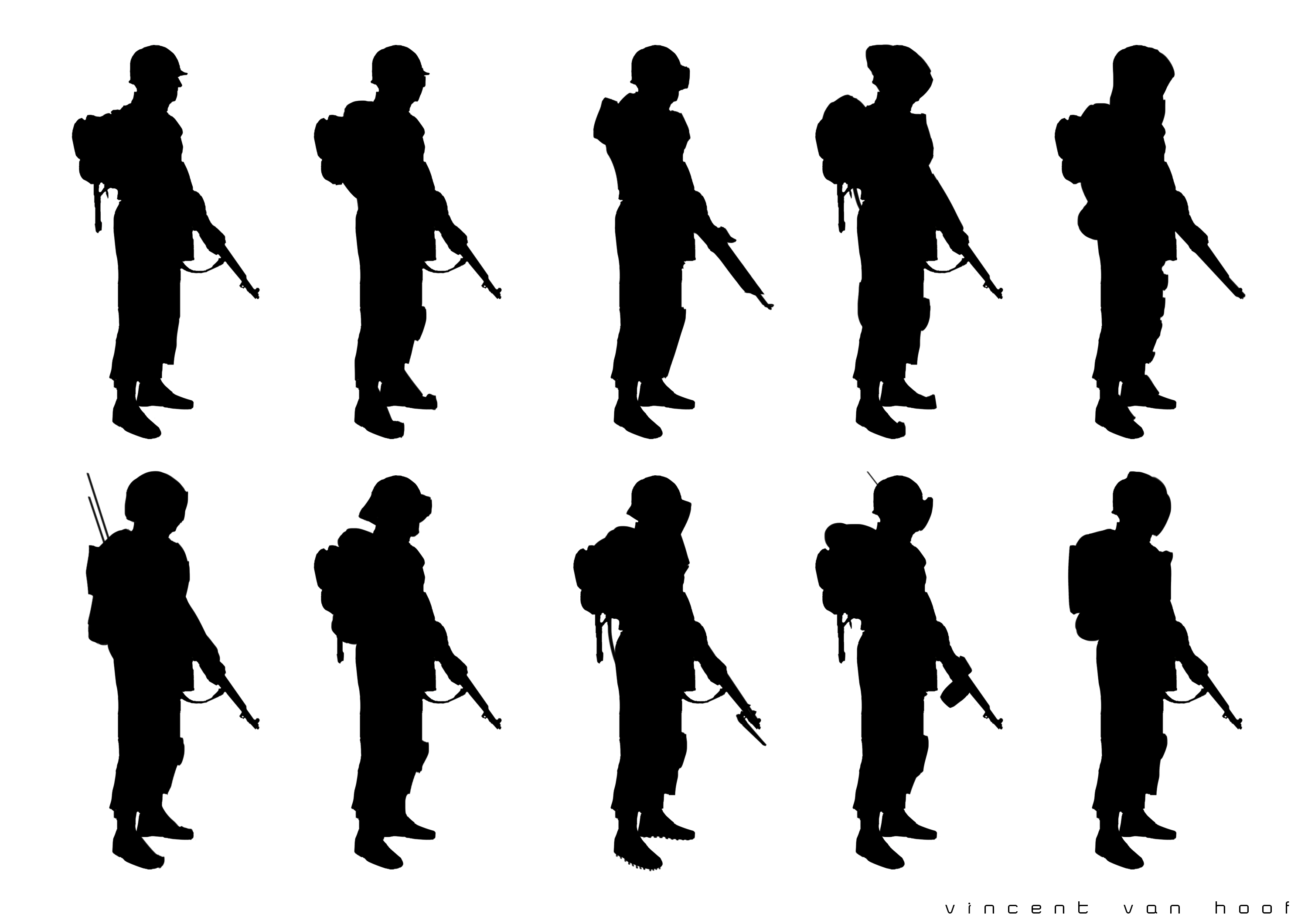 Infantry Silhouettes Set 1 Image