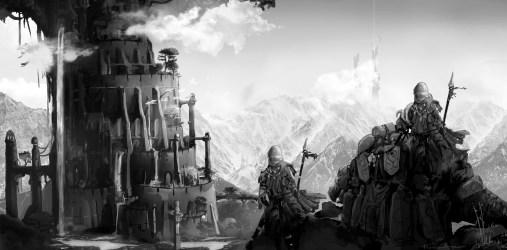 Dragon Gate Elven City Concept Art image Indie DB