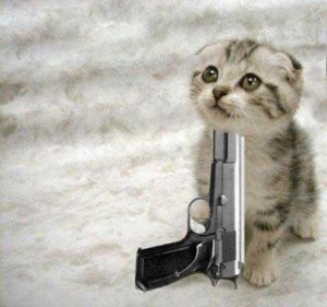 Cat With Gun Image Cat Lovers Indie Db
