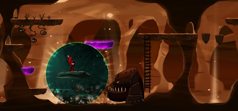 desert underground sphere