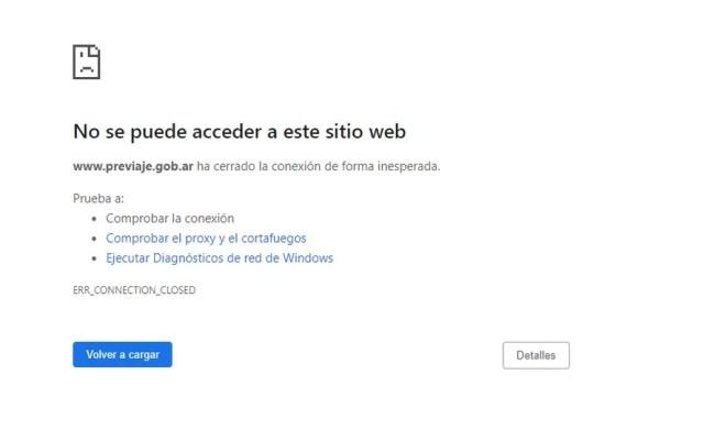 La página web de PreViaje funciona con demoras debido a la gran demanda