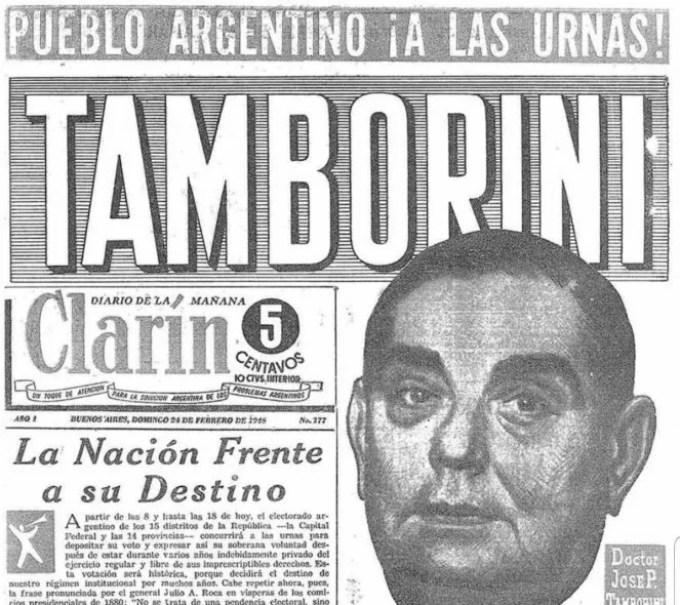 La tapa de Clarín el día domingo 24 de febrero de 1946 el día que Perón ganó su primera elección. No tuvo suerte el deseo del diario