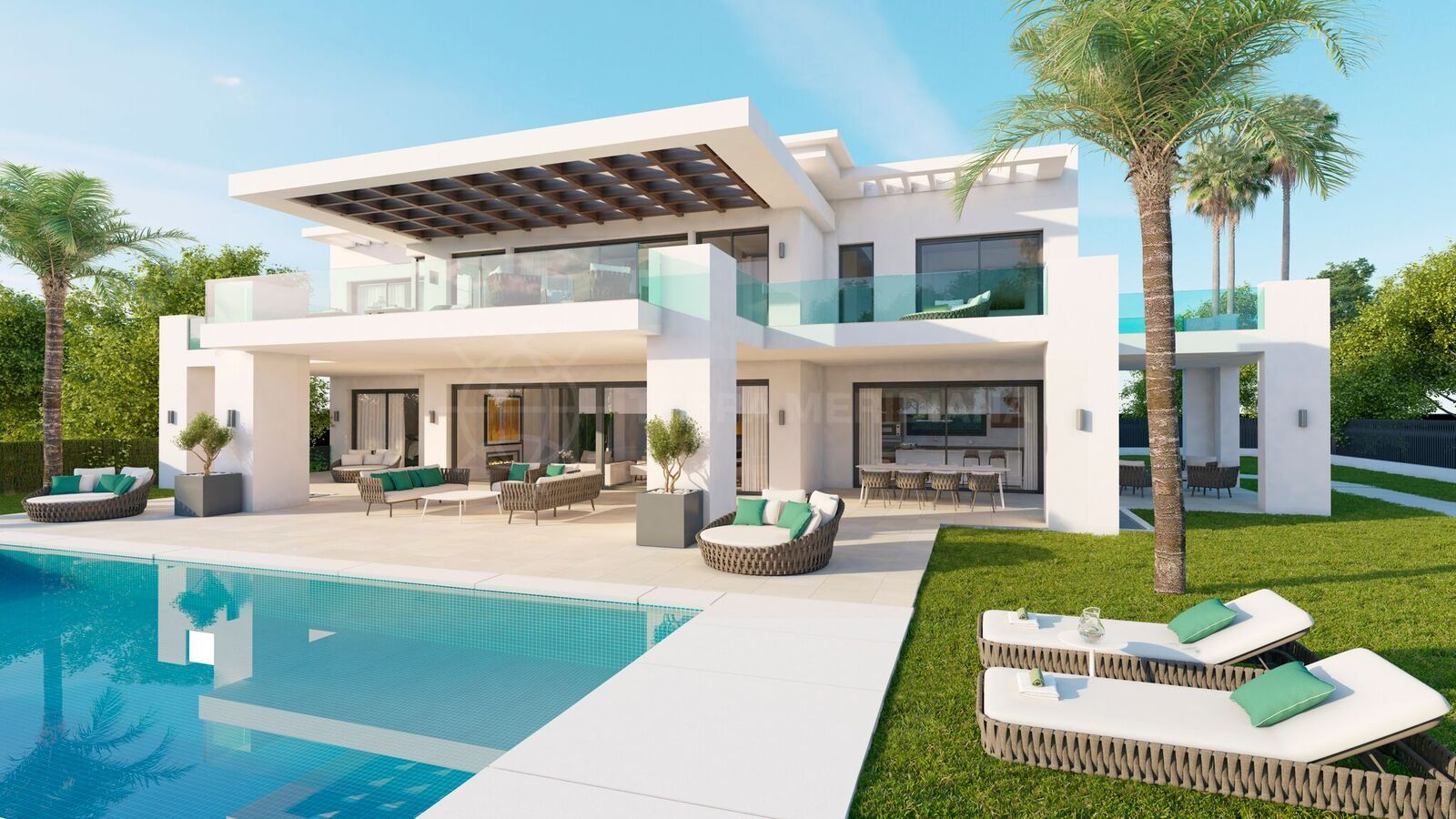 Newbuild contemporary villa for sale with pool and