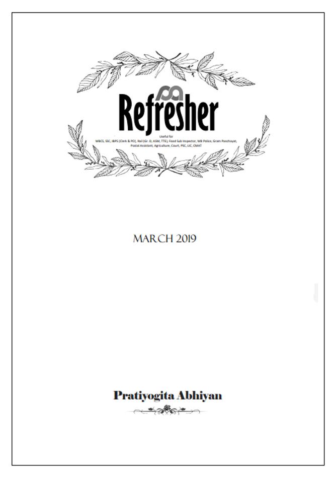 Pratiyogita Abhiyan Refresher- Issue March 2019