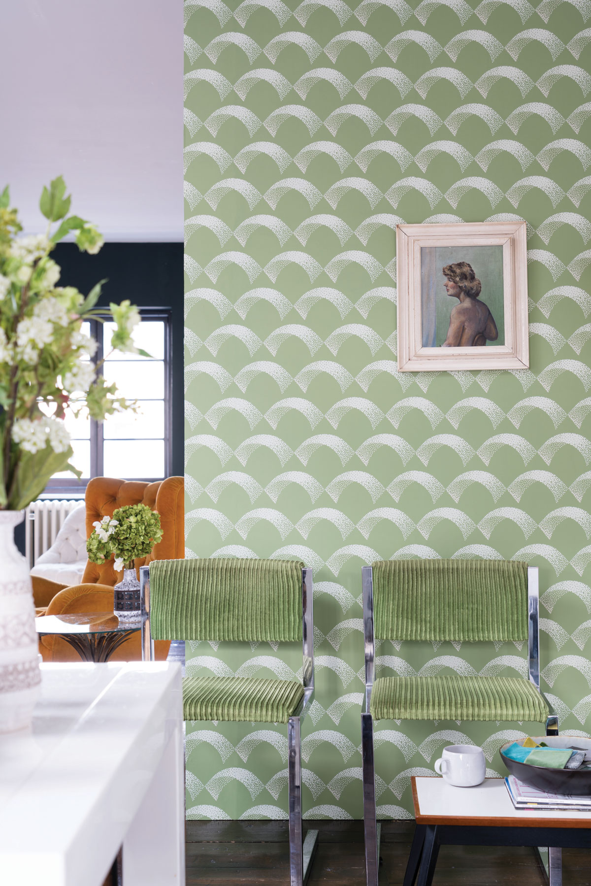 Farrow  Ball Channels the 1940s in Latest Wallpaper