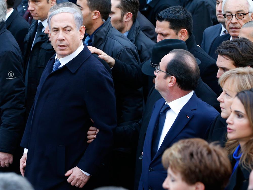 Benjamin Netanyahu a Parigi l'11 gennaio 2015. - Yves Herman, Reuters/Contrasto