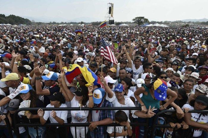 Il concerto Venezuela Aid Live, organizzato dalla Colombia alla frontiera con il Venezuela, 22 febbraio 2019. - Luis Robayo, Afp