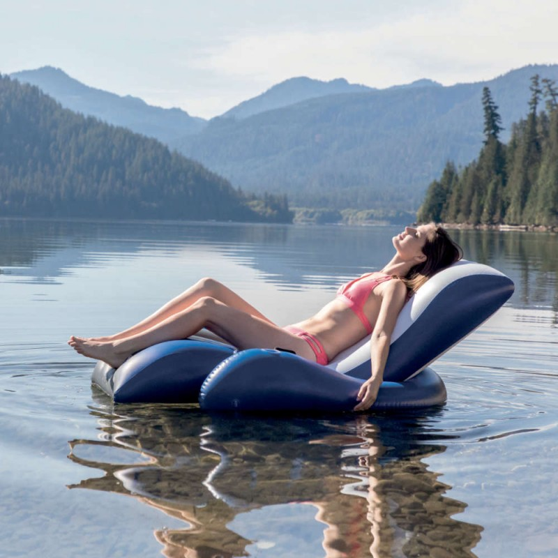 chaise longue gonflable river run intex