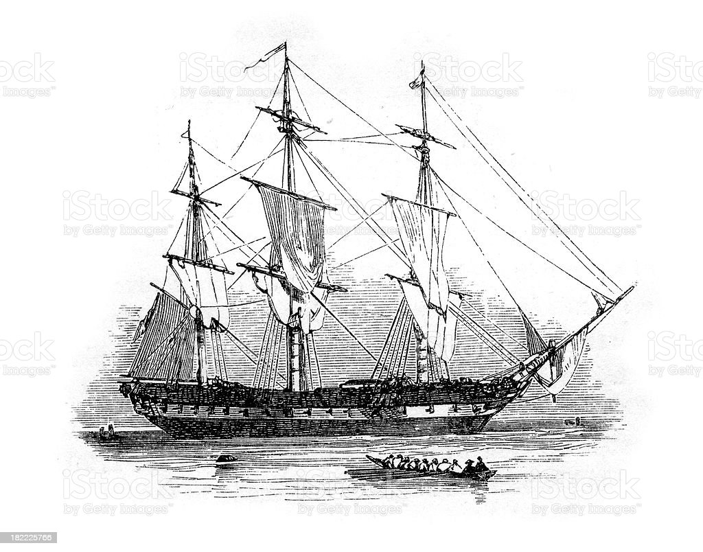 18th Century British Warship Stock Vector Art & More