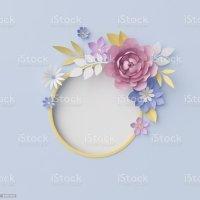 3d Render Digital Illustration Floral Background ...