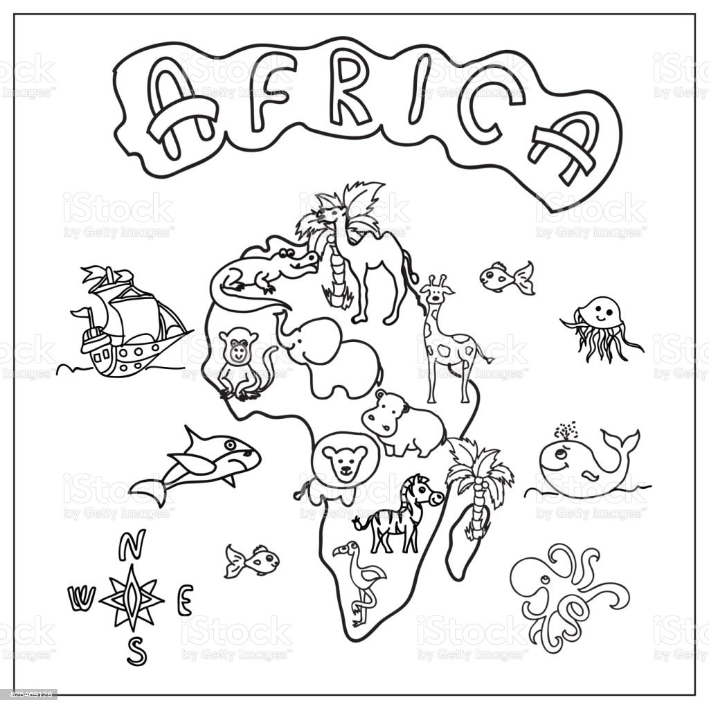 African Coloring Page Continent