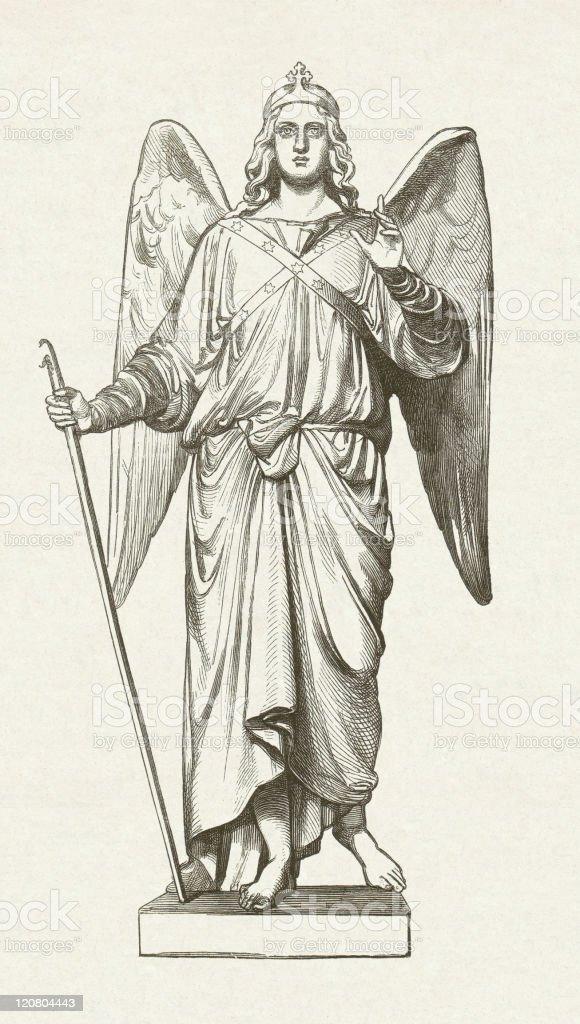 St Raphael Tattoo : raphael, tattoo, Archangel, Raphael, Illustrations, IStock