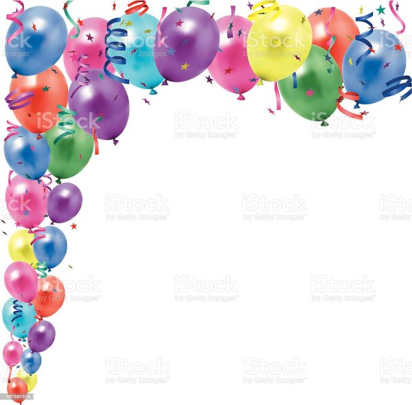 balloons and streamers stock vector
