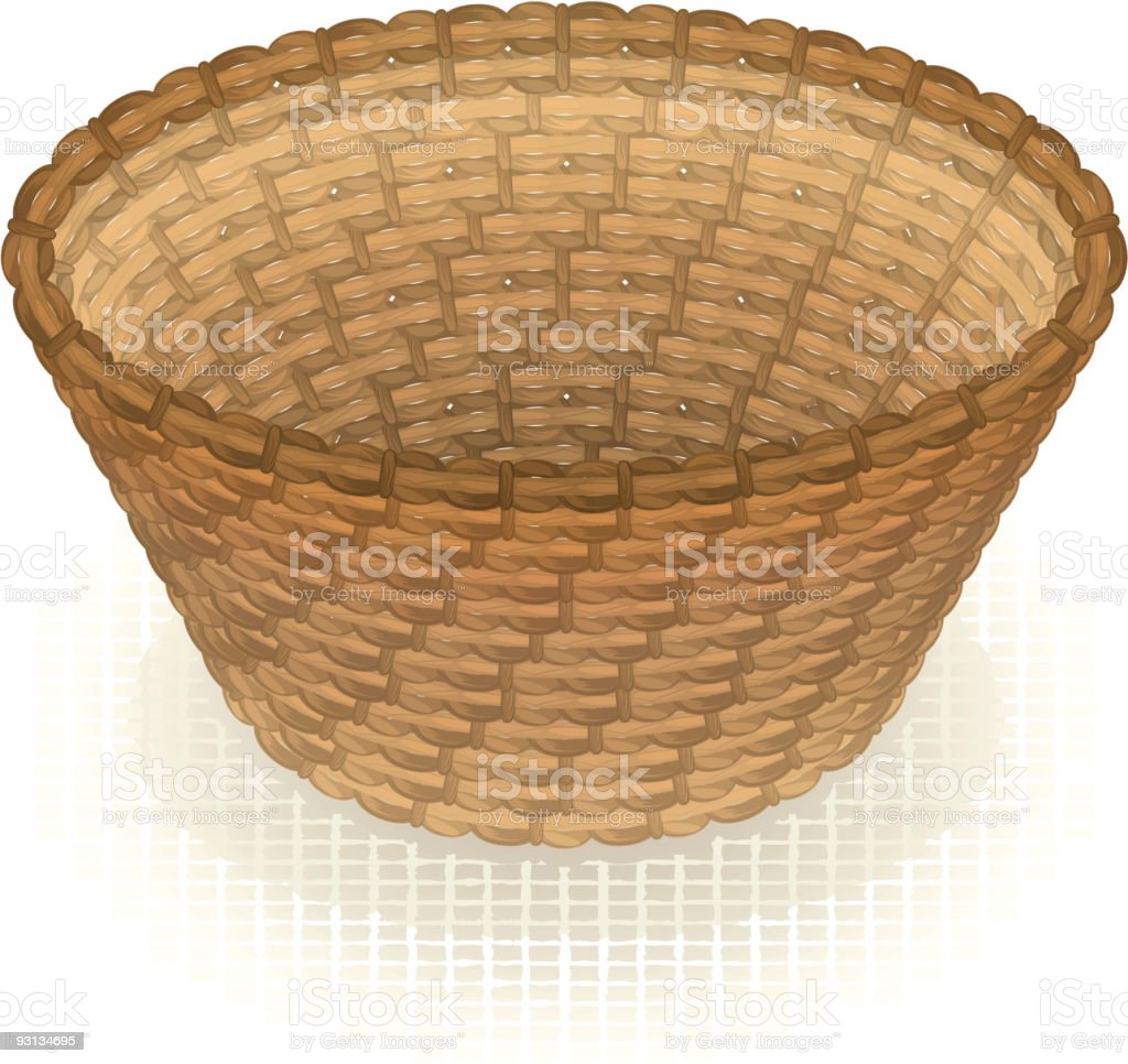 empty basket clip art vector