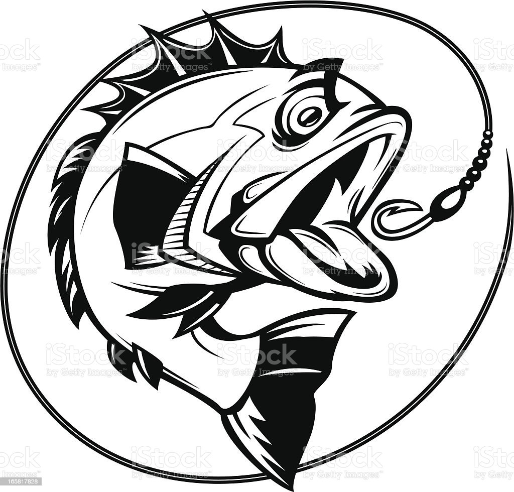 Bass Fishing Graphic Stock Vector Art & More Images of