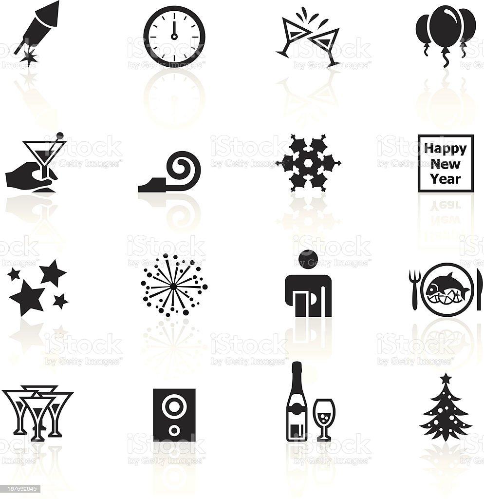 black symbols new years