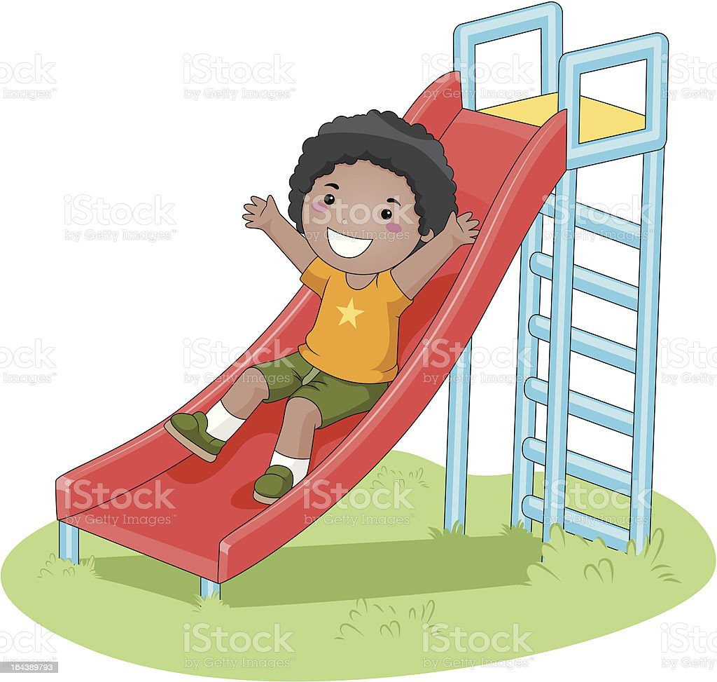 Rutsche Clipart Boy Sliding Stock Vector Art And More Images Of Boys