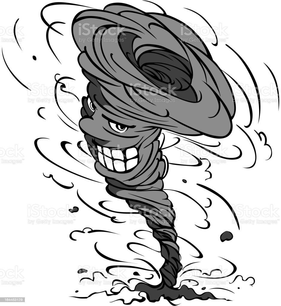 Dessin Animé Ouragan Stock Vecteur Libres de Droits
