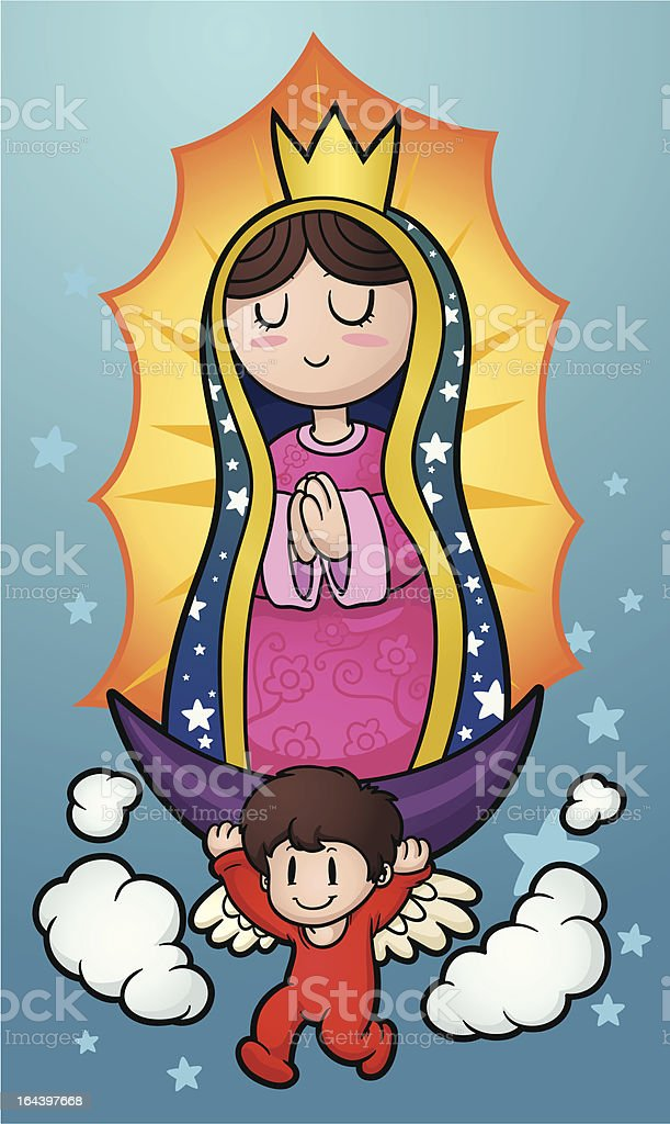 Cartoon Virgin Of Guadalupe Stock Vector Art  More Images