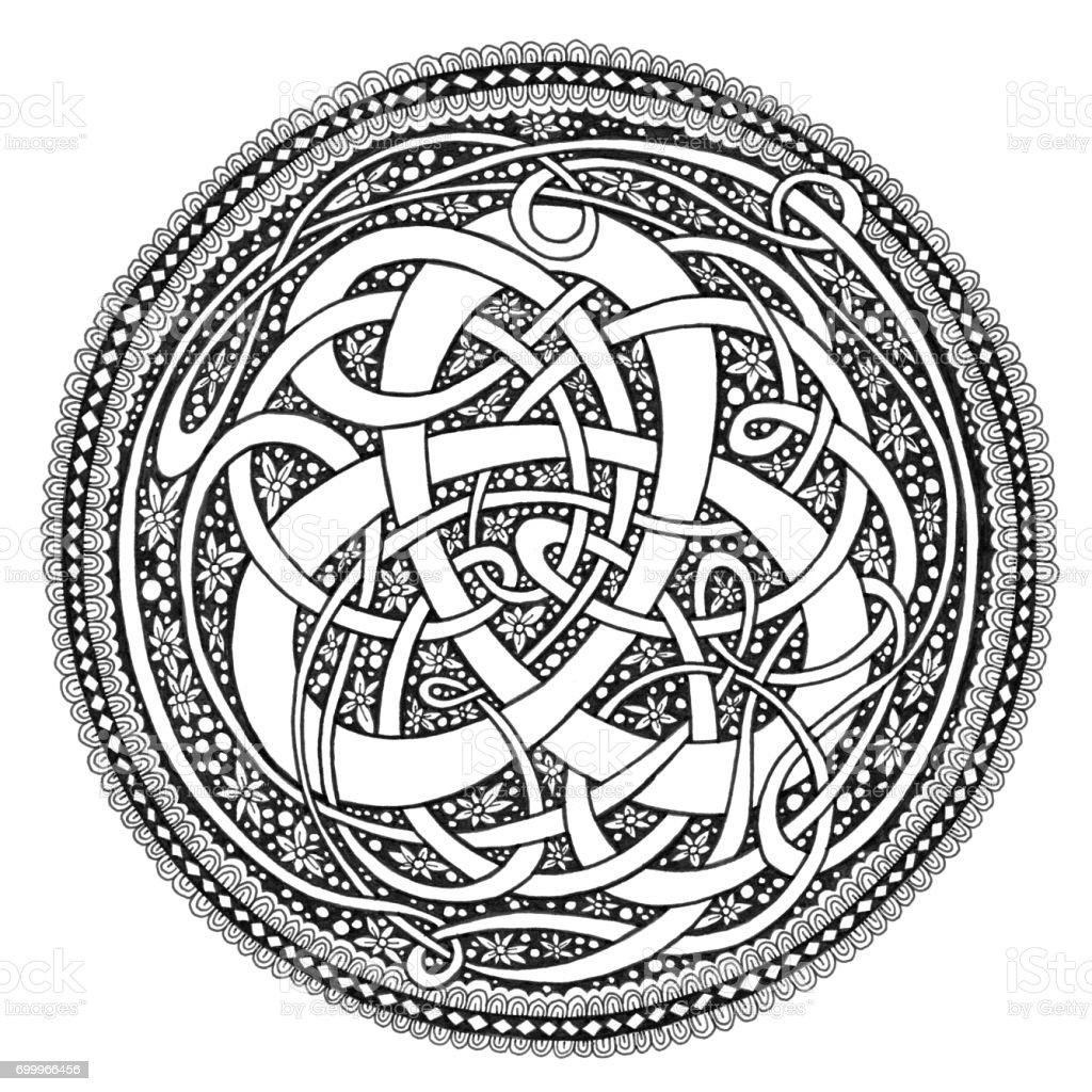 Celtic Knot Mandala Doodle Drawing Stock Vector Art Amp More
